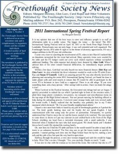 July August 2011 Newsletter